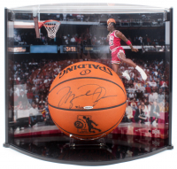 Michael Jordan Signed LE Official NBA Game Ball Rookie of the Year Logo Commemorative Basketball with Display Case (UDA Hologram) at PristineAuction.com