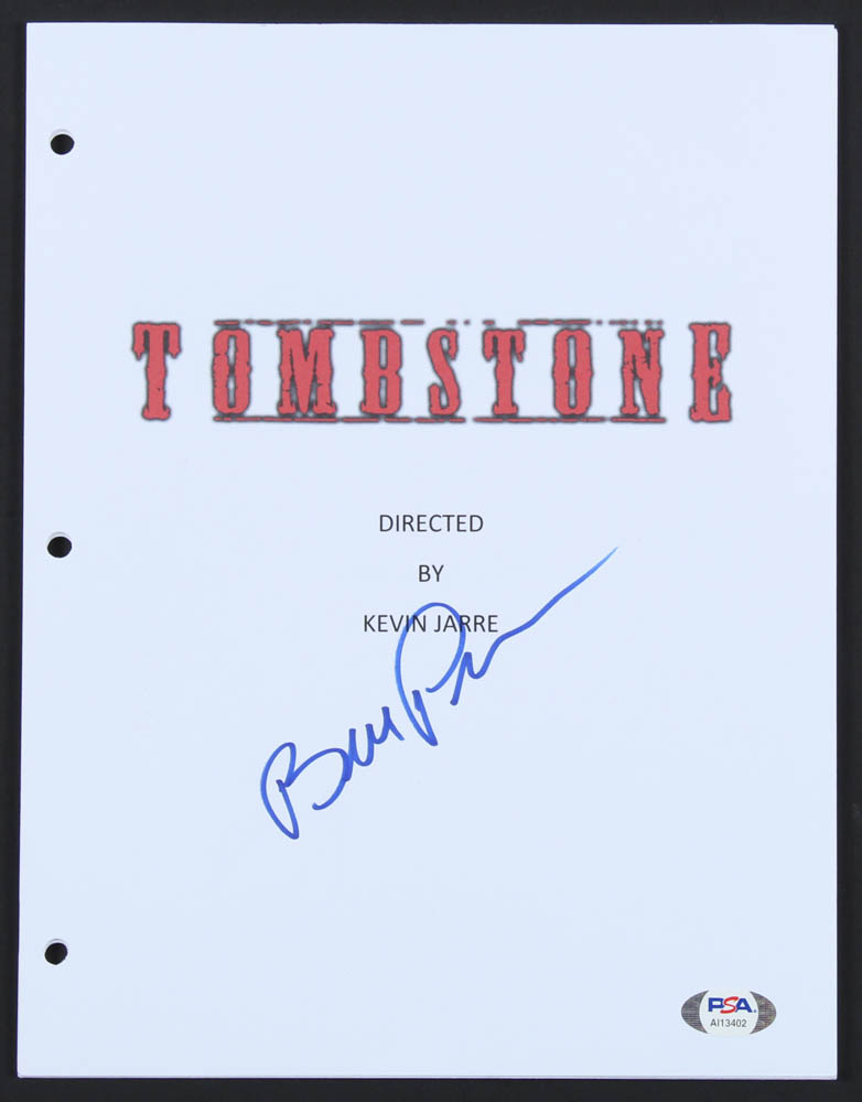 "Bill Paxton Signed ""Tombstone"" Movie Script Cover (PSA Hologram) at PristineAuction.com"
