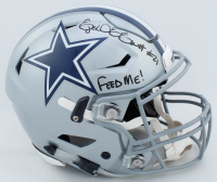 "Ezekiel Elliott Signed Dallas Cowboys Full-Size Authentic On-Field SpeedFlex Helmet Inscribed ""Feed Me!"" (Radtke COA) at PristineAuction.com"