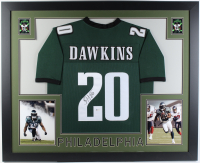 Brian Dawkins Signed 35x43 Custom Framed Jersey (Beckett Hologram) at PristineAuction.com