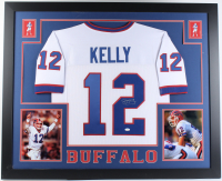 Jim Kelly Signed 35x43 Custom Framed Jersey (JSA COA) at PristineAuction.com
