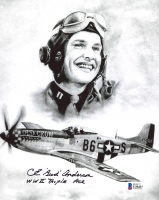 "Bud Anderson Signed 8x10 Photo Inscribed ""WWII Triple Ace"" (Beckett COA) at PristineAuction.com"