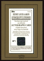 Hank Aaron 2003 Topps 205 Autographs #HA at PristineAuction.com