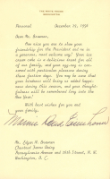 "Mamie Eisenhower Signed 1956 ""The White House"" 6x9 Typed Letter (JSA ALOA) at PristineAuction.com"