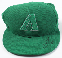 Socrates Brito Signed Game-Used Diamondbacks St. Patricks New Era Cap (MLB Hologram) at PristineAuction.com