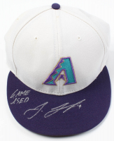 "Jake Lamb Signed Game-Used Diamondbacks Baseball Hat Inscribed ""Game Used"" (MLB Hologram) at PristineAuction.com"