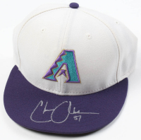 Chase Anderson Signed Game-Used Diamondbacks New Era Cap (MLB Hologram) at PristineAuction.com