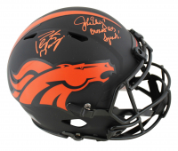 "John Elway & Peyton Manning Signed Broncos Eclipse Alternate Full-Size Authentic On-Field Speed Helmet Inscribed ""Broncos QB Legends"" (Beckett COA) at PristineAuction.com"
