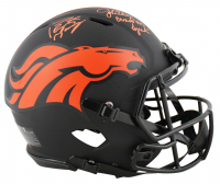 "John Elway & Peyton Manning Signed Broncos Full-Size Authentic On-Field Eclipse Alternate Speed Helmet Inscribed ""Broncos QB Legends"" (Beckett COA) at PristineAuction.com"