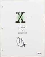 "Chris Carter Signed ""The X-Files"" Episode Script Cover (PSA Hologram) at PristineAuction.com"