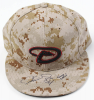 "Martin Prado Signed Game-Used Diamondbacks Camo New Era Fitted Cap Inscribed ""Game Used"" (MLB Hologram) at PristineAuction.com"