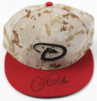 Chris Owings Signed Game-Used Diamondbacks Camo New Era Cap (MLB Hologram) at PristineAuction.com