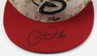 Chris Owings Signed Game-Used Diamondbacks Camo New Era Cap (MLB Hologram) at PristineAuction.com