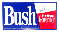 George W. Bush Signed 12x22 Campaign Sign (Beckett LOA) at PristineAuction.com