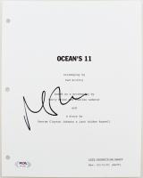 "Matt Damon Signed ""Ocean's 11"" Movie Script Cover (PSA Hologram) at PristineAuction.com"