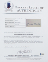 Mickey Mantle Signed Home Plate (Beckett LOA) at PristineAuction.com
