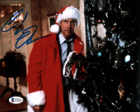"""Chevy Chase Signed """"Christmas Vacation"""" 8x10 Photo (Beckett COA) at PristineAuction.com"""