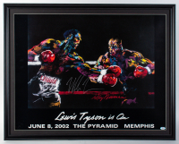 Mike Tyson Signed 27x33.5 Custom Framed LeRoy Neiman Original Fight Lithograph Display (PSA COA) at PristineAuction.com