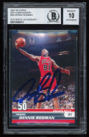 Dennis Rodman Signed 2007-08 Topps 50th Anniversary #29 (BGS Encapsulated) at PristineAuction.com