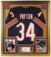 Walter Payton Signed 32x36 Custom Framed Cut Display (PSA Encapsulated) at PristineAuction.com