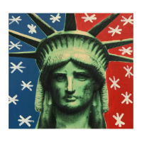 "Steve Kaufman Signed ""Liberty Head"" 24x24 Hand Painted Unique Variation Hand Pulled Silkscreen on Canvas #39/50 at PristineAuction.com"