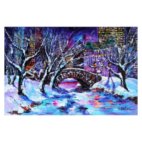 "Yana Rafael Signed ""Frosty Day in Central Park"" 24x36 Original Painting on Canvas at PristineAuction.com"