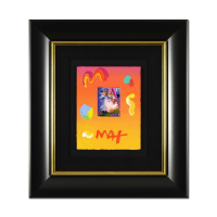 "Peter Max Signed ""Blushing Beauty"" 21x23 Custom Framed One-Of-A-Kind Acrylic Mixed Media at PristineAuction.com"