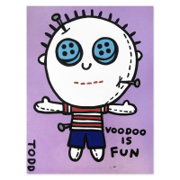 "Todd Goldman Signed ""Voodoo is Fun"" 48x36 Original Painting on Canvas at PristineAuction.com"