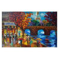 "Yana Rafael Signed ""Scenic Café"" 24x36 Original Painting on Canvas at PristineAuction.com"