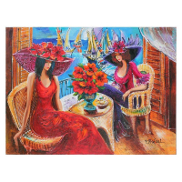 """Yana Rafael Signed """"Ladies by the Sea"""" 30x40 Original Painting on Canvas at PristineAuction.com"""