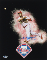Jimmy Rollins Signed Phillies 11x14 Photo (Beckett COA) at PristineAuction.com