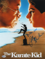 """Ralph Macchio Signed """"The Karate Kid"""" 11x14 Photo Inscribed """"Wax On"""" (Beckett COA) at PristineAuction.com"""
