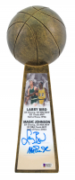 "Larry Bird & Magic Johnson Signed 14"" Championship Basketball Trophy (Beckett COA) at PristineAuction.com"