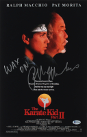 "Ralph Macchio Signed ""The Karate Kid"" 12x18 Photo Inscribed ""Wax On"" (Beckett COA) at PristineAuction.com"