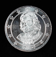 Thomas Jefferson .999 One Troy Ounce Fine Silver Bullion Round at PristineAuction.com