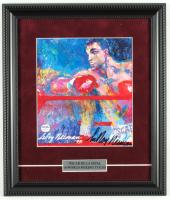 "LeRoy Neiman Signed ""Oscar de La Hoya"" 11.5"" x 13.5"" Custom Framed Print Display (PSA COA) at PristineAuction.com"