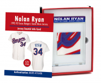 NOLAN RYAN 1992-93 TEXAS RANGERS GAME-WORN JERSEY MYSTERY SWATCH BOX! at PristineAuction.com