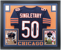 "Mike Singletary Signed 35x43 Custom Framed Jersey Inscribed ""HOF 98"" (JSA COA) at PristineAuction.com"