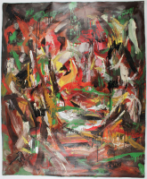"Retne ""Ample"" 38x48 Original Artwork On Unstretched Canvas (PA LOA) at PristineAuction.com"