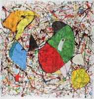 "Retne ""Aubo"" 38x37 Original Artwork On Unstretched Canvas (PA LOA) at PristineAuction.com"