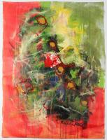 """Tadas Zaicikas """"Fantasia #100"""" 28x38 Original Artwork On Unstretched Canvas (PA LOA) at PristineAuction.com"""