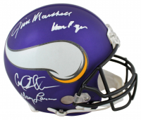 """Vikings """"Purple People Eaters"""" Authentic On-Field Full-Size Helmet Signed by (4) with Carl Eller, Alan Page, Gary Larsen & Jim Marshall (Beckett COA) at PristineAuction.com"""