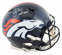 "John Elway Signed Broncos Full-Size Authentic On-Field Speed Helmet Inscribed ""HOF 2004"" (Beckett COA) at PristineAuction.com"