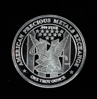 """1 Troy Ounce .999 Fine Silver """"APMEX"""" Bullion Round at PristineAuction.com"""