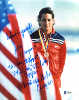 Greg Louganis Signed 8x10 Photo with Multiple Inscriptions (Beckett COA) at PristineAuction.com