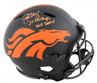 """John Elway Signed Broncos Full-Size Authentic On-Field Eclipse Alternate Speed Helmet Inscribed """"2x SB Champs"""" & """"HOF 2004"""" (Beckett COA) at PristineAuction.com"""