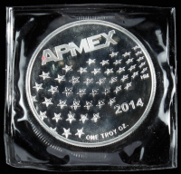 "1 Troy Ounce .999 Fine Silver 2014 ""APMEX"" Bullion Round at PristineAuction.com"