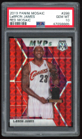 LeBron James 2019-20 Panini Mosaic Mosaic Red #298 MVP (PSA 10) at PristineAuction.com