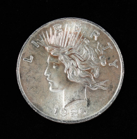 1 Troy Ounce .999 Fine Silver Peace Bullion Round at PristineAuction.com