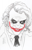 "Tom Hodges - The Joker - Heath Ledger - ""Batman"" - DC Comics - Signed ORIGINAL 5.5"" x 8.5"" Drawing on Paper (1/1) at PristineAuction.com"